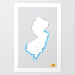 New Jersey Pixels Art Print