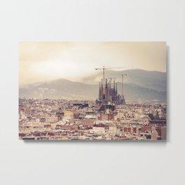 Travel Series: Barcelona Metal Print