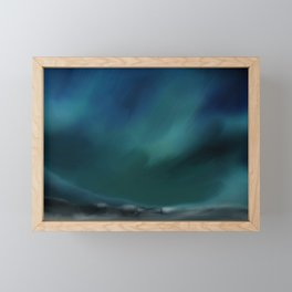 Dark skies Framed Mini Art Print