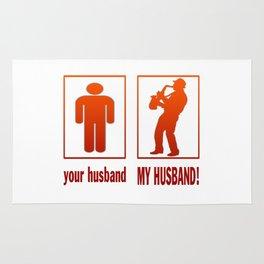 Saxophone Player - My Husband Rug
