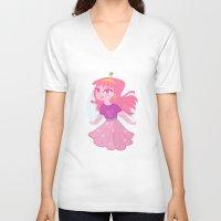 princess bubblegum V-neck T-shirts featuring Bubblegum by Pilotinta
