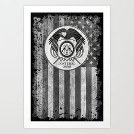 Faith Hope Liberty & Freedom Eagle on US flag Art Print