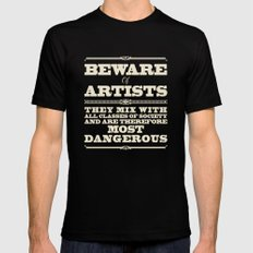 Beware of Artists Black Mens Fitted Tee X-LARGE