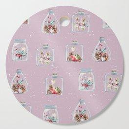 Christmas Pattern Pink Cutting Board