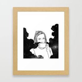 Magical coffee. Framed Art Print