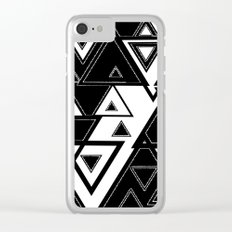 Triangle black and white Clear iPhone Case