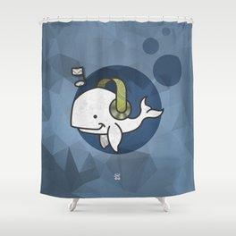 Music Whale Shower Curtain