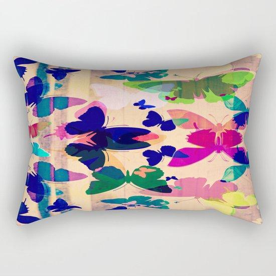 Butterflies on board Rectangular Pillow