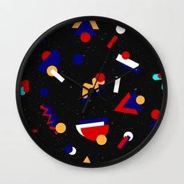 Memphis geometric pattern #2 Wall Clock