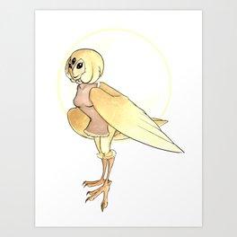 Owl Harpy Art Print