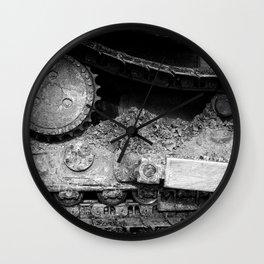 Ivan Caterpillar Track Black and White Wall Clock