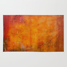 Abstract golden Autumn Rug