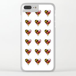 flag maryland 3-america,usa,Old Line State,marylander, America in Miniature,Baltimore,Columbia Clear iPhone Case