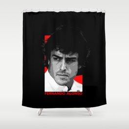 Formula One - Fernando Alonso Shower Curtain