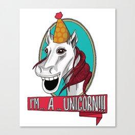 Sylvester the Wannabe Unicorn Canvas Print