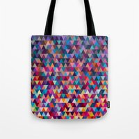 triangles Tote Bags featuring Triangles by Ornaart