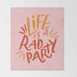 Rad Party Throw Blanket