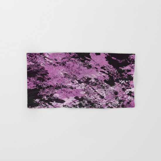 Abstract Texture Deux - Purple, White and Black Hand & Bath Towel