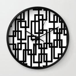 Rec-tangled II Wall Clock