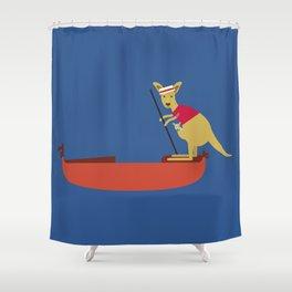 Kangaroo on Gondola Shower Curtain