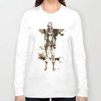 metal gear Long Sleeve T-shirts featuring Metal Gear Solid wolf by Hisham Al Riyami