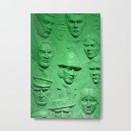 Faces green tint Metal Print
