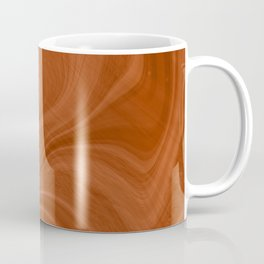 Burnt Orange Swirl Marble Coffee Mug