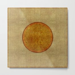 """Golden Circle Japanese Inspiration"" Metal Print"