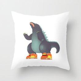 Dunkzilla Throw Pillow