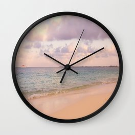 Dreamy Beach View Wall Clock