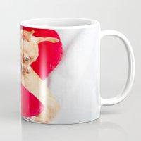 chihuahua Mugs featuring Chihuahua by Luca Spanu