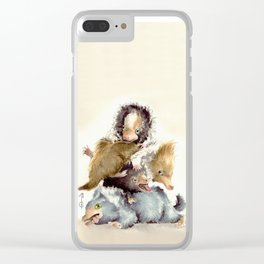 Niffler babies Clear iPhone Case