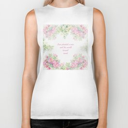 Love planted a rose Biker Tank
