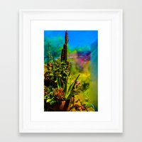 cacti Framed Art Prints featuring Cacti   by Ashley Hirst Photography