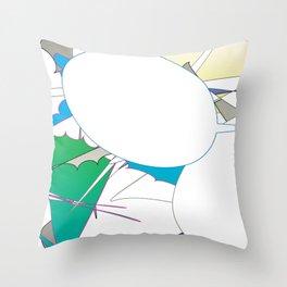 Color #4 Throw Pillow
