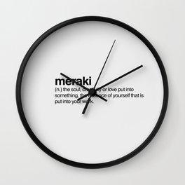 Meraki Wall Clock
