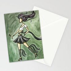 Rock Starlette Stationery Cards