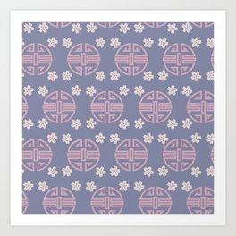 Pastel Oriental Pattern Art Print