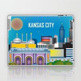 Kansas City, Missouri - Skyline Illustration by Loose Petals Laptop & iPad Skin