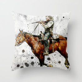 Western Outlaw Cullen Bohannon Throw Pillow