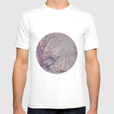 All the pretty lights (3) MEDIUM White Mens Fitted Tee