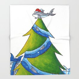 A Great White Christmas Throw Blanket