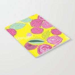 Belles Fleurs - roses bright pattern Notebook