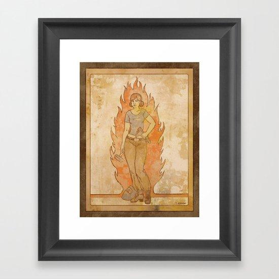 Welder Framed Art Print