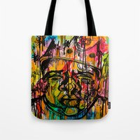 notorious Tote Bags featuring Notorious  by Lauren Mair