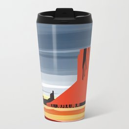 Monument Valley sunset magic realisim Travel Mug