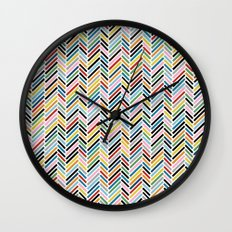 Herringbone Colour #2 Wall Clock