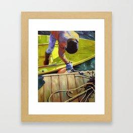 Tying Up Framed Art Print