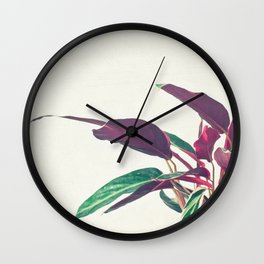 Prayer Plant II Wall Clock