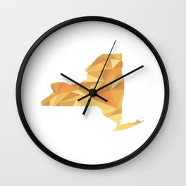 New York Pattern Map Art Wall Clock